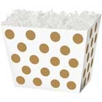 Gold Dot Angled Basket Box 6-3/4