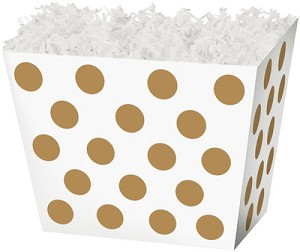 "Gold Dot Angled Basket Box 6-3/4"" x 4-1/2"" x 5"""