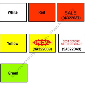 Labels for Avery Dennison 210 Labeler - White