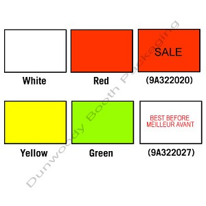 Labels for Avery Dennison 216 Labeler - Red