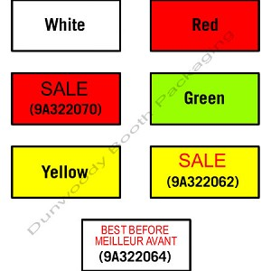 Labels for Avery Dennison M-1 Labeler - Sale on Yellow, Removable