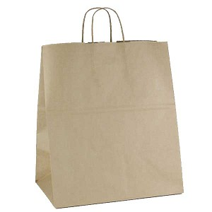 100% Recycled Kraft Paper Shopping Bags - Per 100 - Fashion/Tote