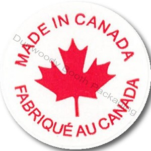 "Made In Canada Labels - 3/4"" diam."
