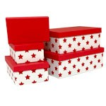 Red Stars Rectangle Nested Boxes