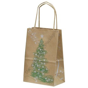 100% Recycled Magical Christmas Paper Shopping Bags - Prime-Gem