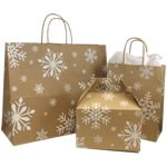 Snowday Paper Shopping Bags - 5-1/2
