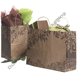 Pattern Paper Shopping Bags on Kraft - Petite-Tempo - Sumatra
