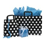 Black and White Dots Poly Shoppers - 8
