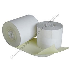 "Dot Matrix Receipt 2-Ply Printer Rolls - 3""w x 3""d x 85 ft."