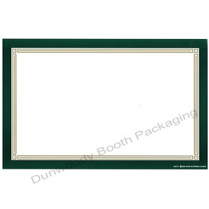 "5-1/2""x7"" Sign Cards - Green/Gold, Blank"