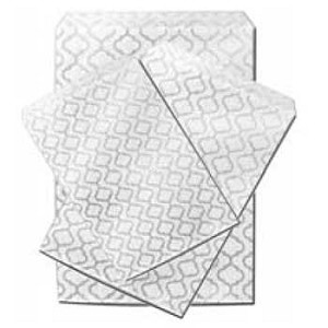 "Paper Accessory Bags - Silver Swirls - 6"" x 9"""