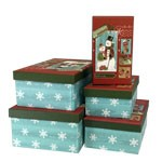 Snowman Rectangle Nested Boxes