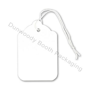 Blank White String Tags - #8