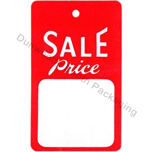 """SALE Price"" Tags - 1-3/4""x2-7/8"" - Red/White"