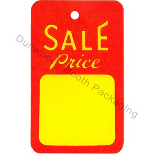 """SALE Price"" Tags - 1-3/4""x2-7/8"" - Red/Yellow"