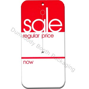 "Slotted Sale Tags - Red/White - 2-1/2""x5"""