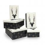 Rectangle Reindeer Nested Boxes