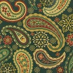 "24""x200ft Roll - 6310 Holiday Paisley Gift Wrap"