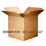 Kraft Corrugated Shipping Box - # 20 - 12
