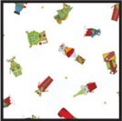 6A655283 - Christmas Critters 2 lb. Gusset Cellophane Bags With Pattern 4-1/2
