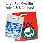 Large-Run Custom Printed Oxo-Biodegradable Poly Boutique Bags
