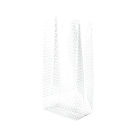 6A655274 - White Dot Small Polypropylene 2 lb., 1.2 mil Gusset Cellophane Bags with Pattern 4