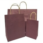Fashion/Tote Wine Pinstripe Paper Shopping Bags per 100 - SKU: 2C669645