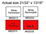 Labels for Towa Two Line Labeler - Red SALE removable