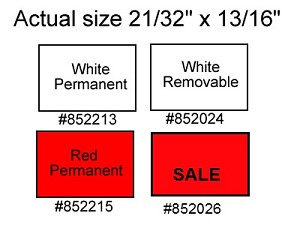 Labels for Towa Two Line Labeler - Permanent White